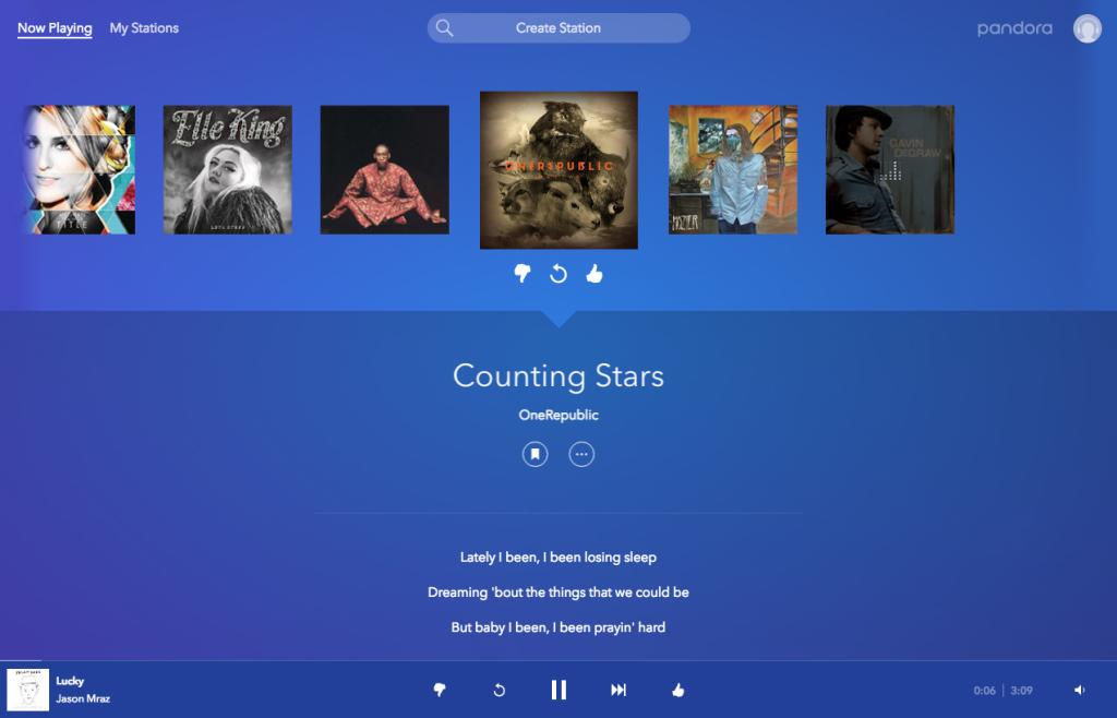 Pandora Interface